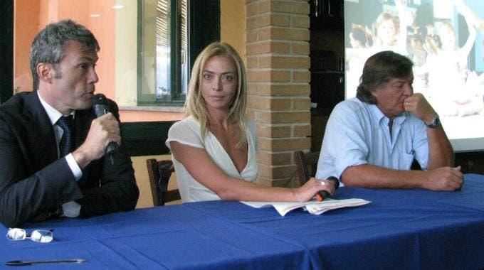 Adriano Panatta e Guido Tommasi alla presentazione della Tennis School