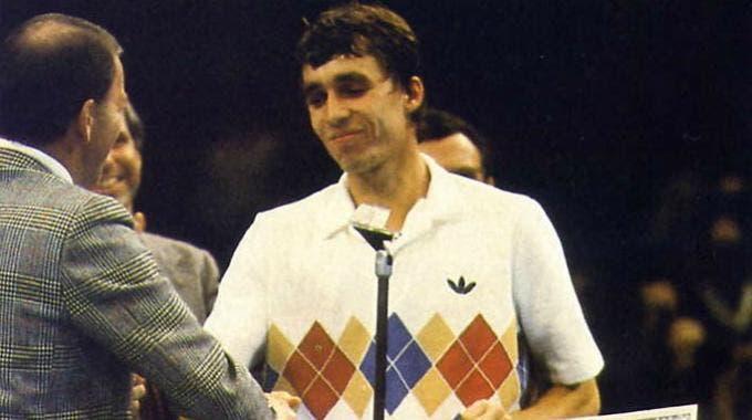 Ivan Lendl festeggia il Masters 1981