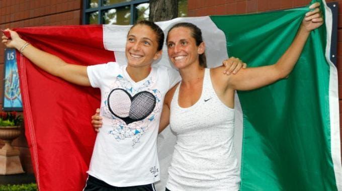 Sara Errani e Roberta Vinci (Photo by Mike Stobe/Getty Images)