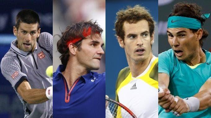Novak Djokovic, Roger Federer, Andy Murray e Rafael Nadal