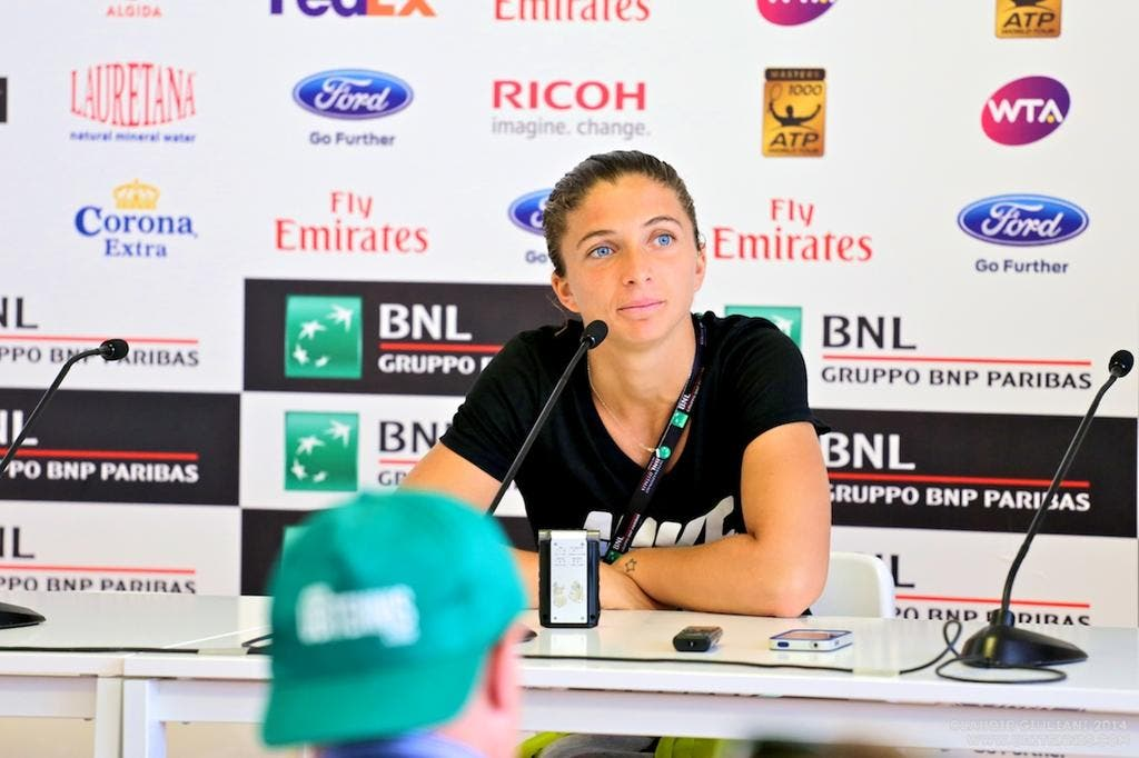 Sara Errani in conferenza stampa (C. GIULIANI)
