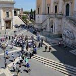 La fase del sorteggio dai Musei Capitolini