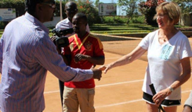 Margaret Court in Uganda per la Tennis Academy