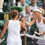 Zahlavova e Wozniacki (foto FABRIZIO MACCANI)