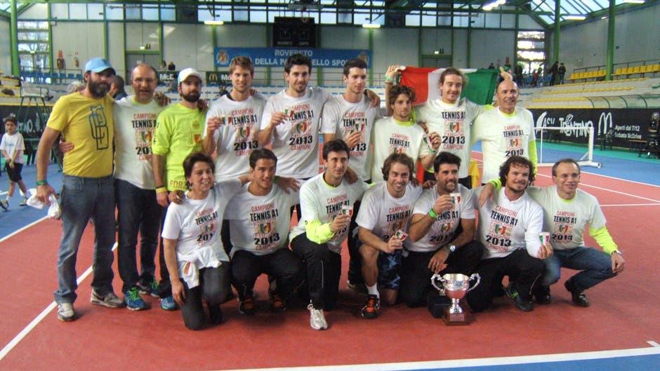 I campioni A1 del 2013 della Società Tennis Bassano