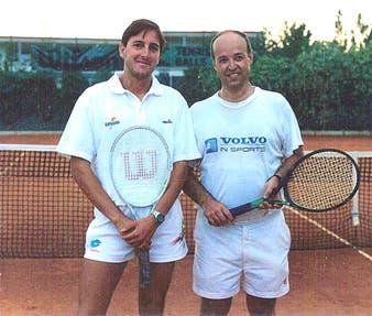 Ubaldo Scanagatta con Luigi Rossi prima di un doppio epico negli anni '90