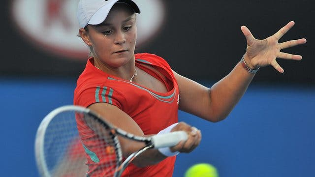 Young Australian Tennis Star Ashleigh Barty Trades Her Racquet for a Cricket Bat