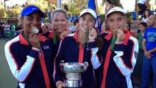 Tornado Alicia Black, Kathy Rinaldi, CiCi Bellis e Sonya Kenin, Fed Cup Junior 2014