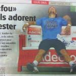 """Fognini, """"Quel pazzo che amano detestare"""", Le Nouvelliste Ginevra 2014"""