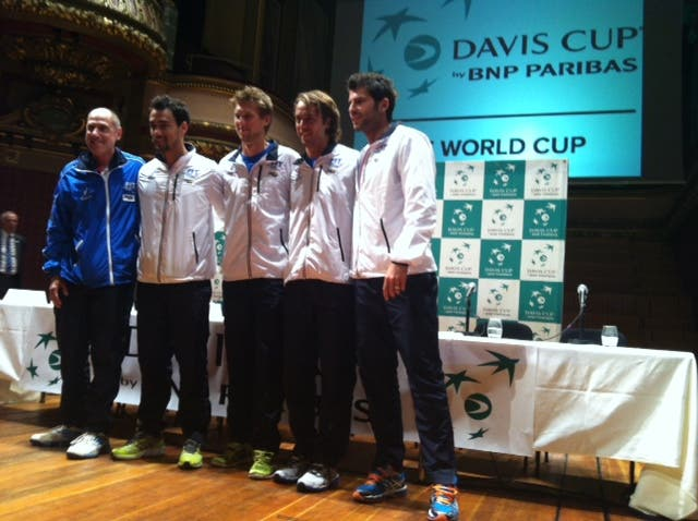 Barazzutti, Fognini, Seppi, Lorenzi e Bolelli, Ginevra 2014