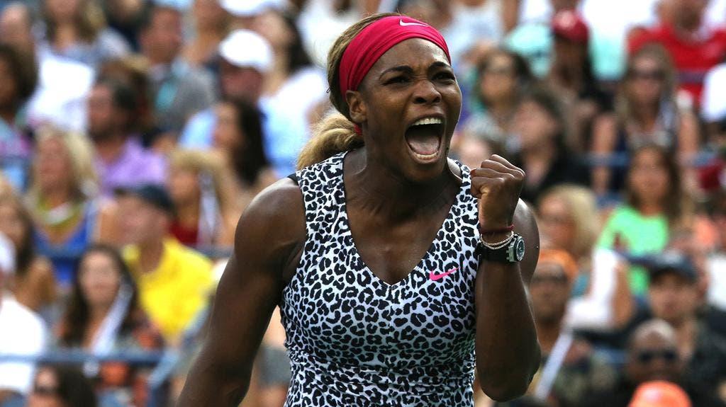 L'urlo di Serena Williams, US Open 2014 (foto ART SEITZ)