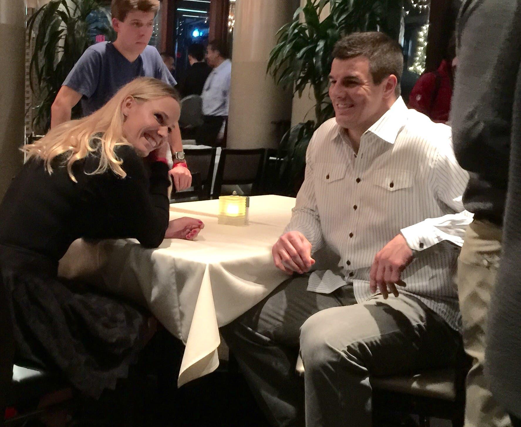 Caroline Wozniacki e Ryan Kerrigan ad un evento di beneficenza a Washington D.C