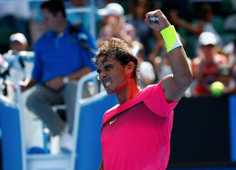 Rafael Nadal dopo la sua prima vittoria nel 2015 all'Open d'Australia