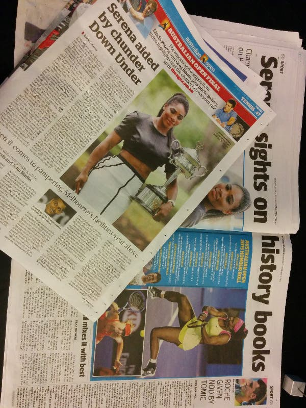 Quotidiani australiani, the day after