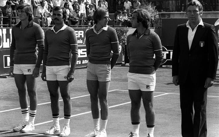 L'Italia della Coppa Davis 1976 contro il Cile