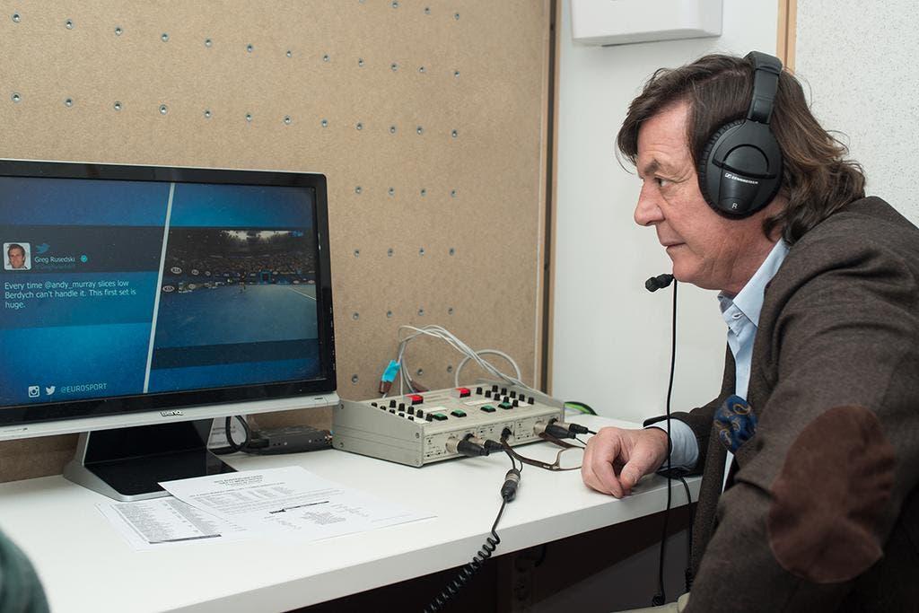 Adriano Panatta durante la diretta Eurosport per gli Australian Open