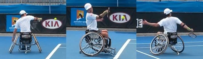 Conosco parecchi tennisti normodotati che da Shingo Kunieda perderebbero (foto di Luca Baldissera)