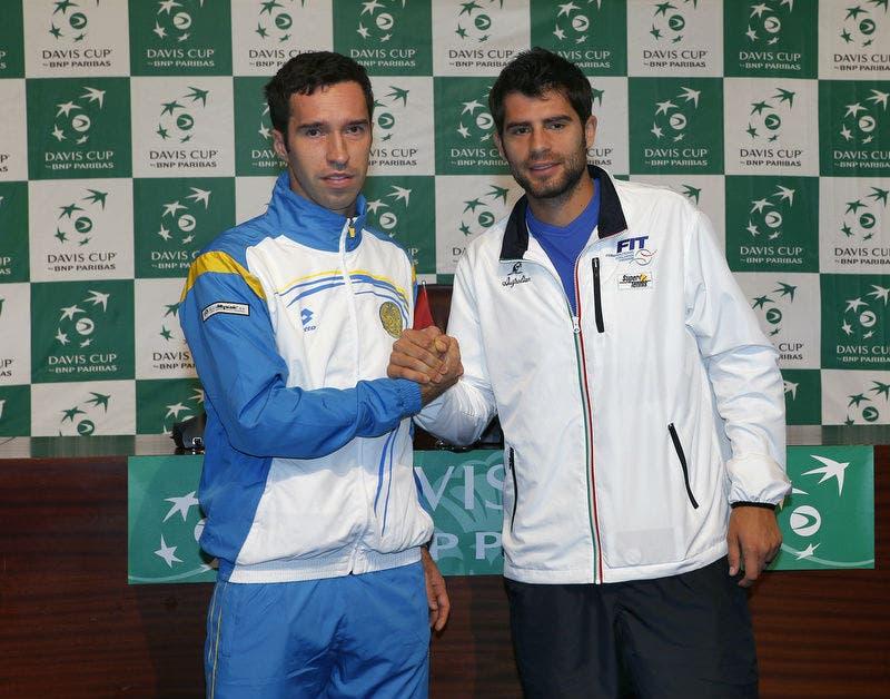Kukushkin e Bolelli al sorteggio (foto Sergey Kivrin)