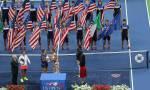 Flavia Pennetta, premiazione - F US Open 2015 (foto di Art Seitz)