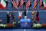 Flavia Pennetta, premiazione – F US Open 2015 (foto di Art Seitz)