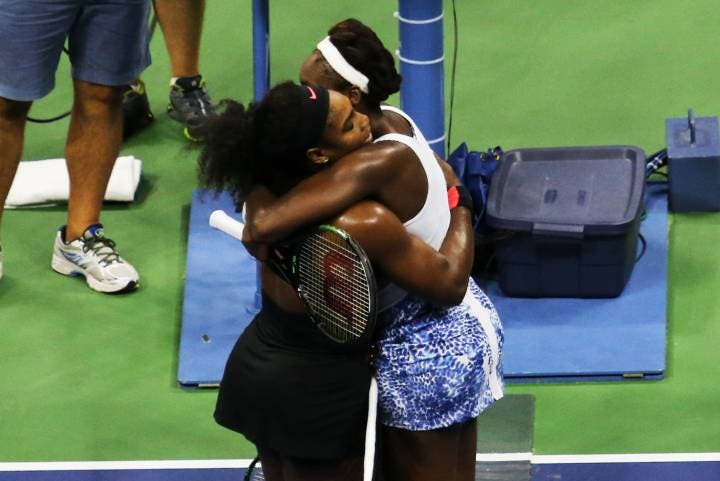 Serena e Venus Williams - US Open 2015 (foto di Art Seitz)