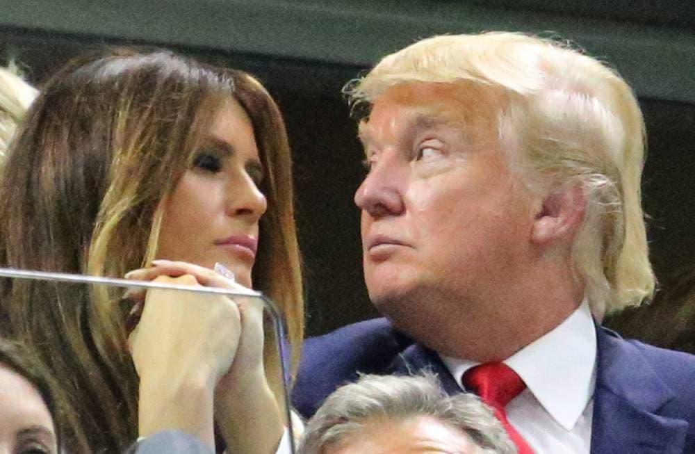 Donald e Melania Trump - US Open 2015 (foto di Art Seitz)