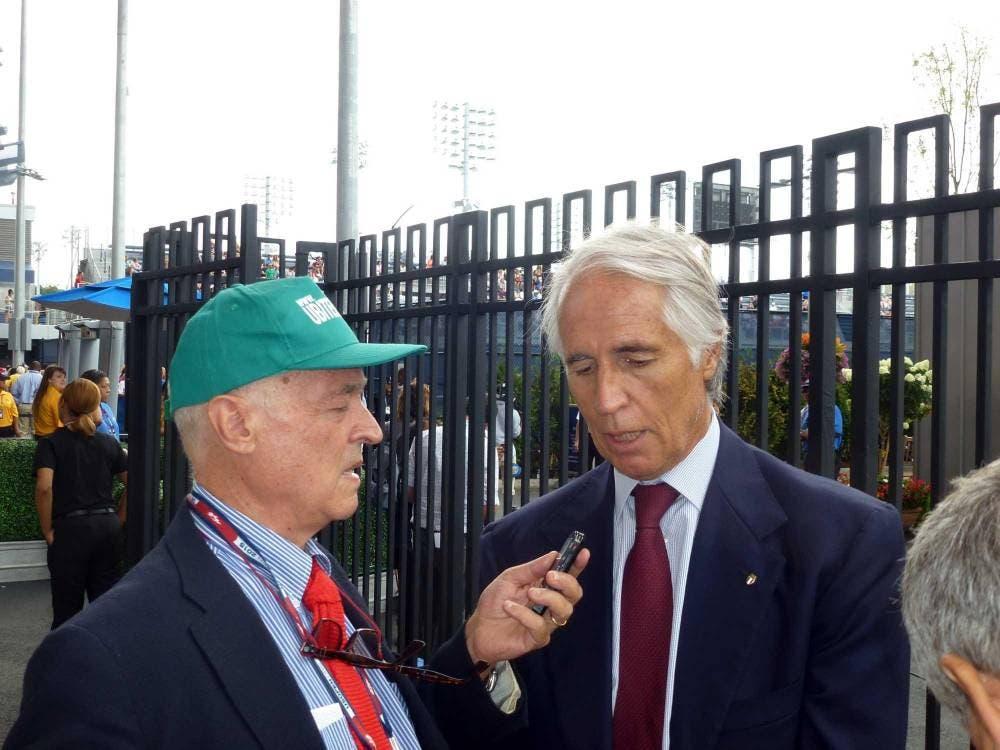 Ubaldo Scanagatta e Giovanni Malagò (foto di Bob Straus)