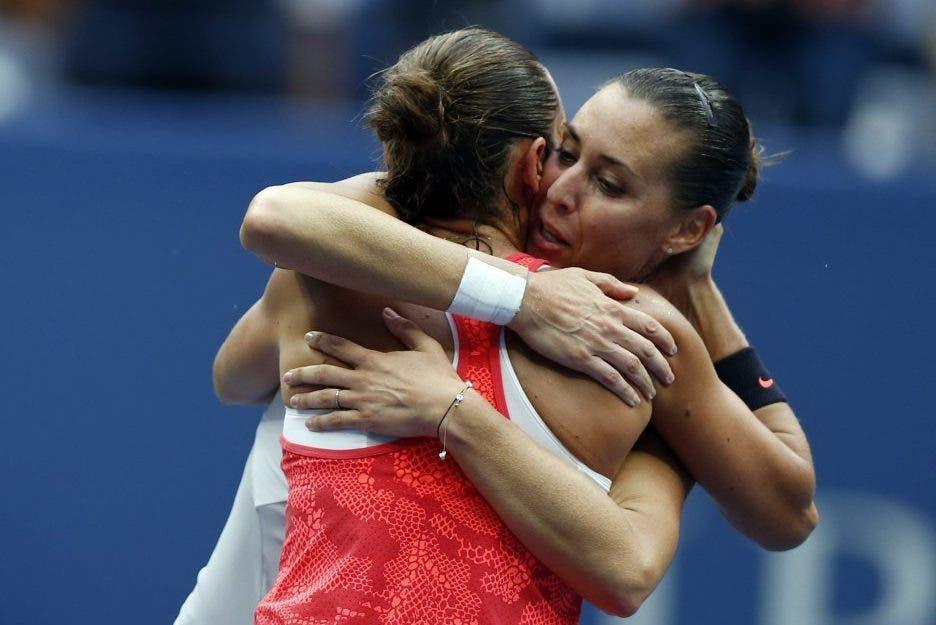 US Open: italiane dall'altare alla polvere. Da Pennetta-Vinci a tre sole in gara