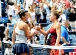 Flavia Pennetta e Simona Halep - SF US Open 2015 (foto di Bob Straus)