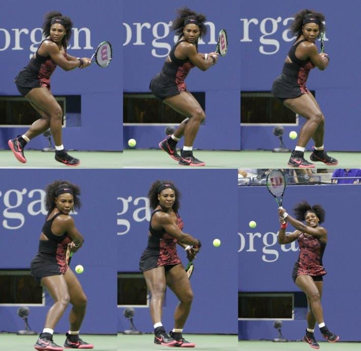 Serena Williams - Preparazione rovescio in linea