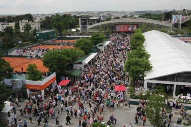 Lo stadio del Suzanne Lenglen Roland Garros 2016 (foto di Roberto Dell'Olivo)