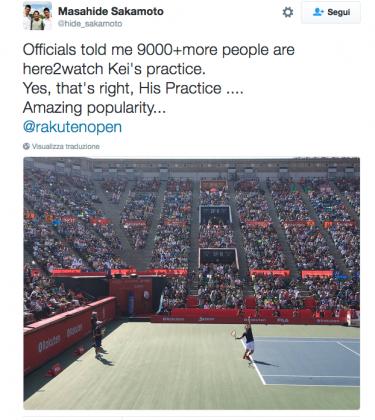 Twitter allenamento Nishikori