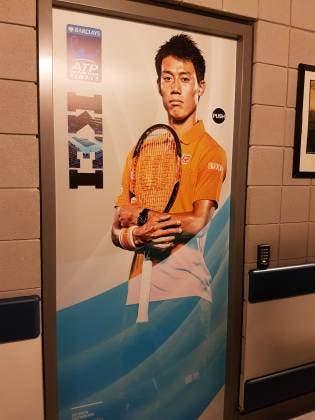 Lo spogliatoio di Kei Nishikori - ATP World Tour Finals 2016