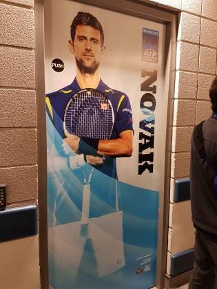 Lo spogliatoio di Novak Djokovic - ATP World Tour Finals 2016