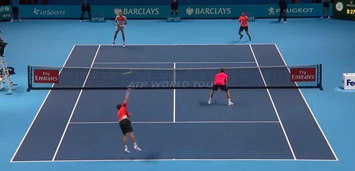 incredible doubles point ATP finals kontinen peers vs lopez lopez_0108