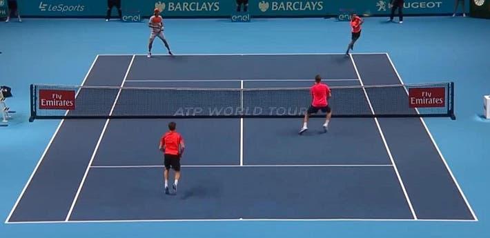incredible doubles point ATP finals kontinen peers vs lopez lopez_0134