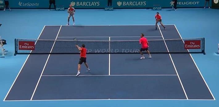 incredible doubles point ATP finals kontinen peers vs lopez lopez_0158