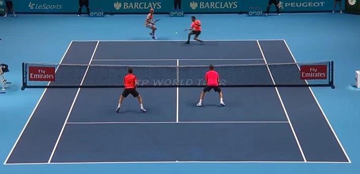 incredible doubles point ATP finals kontinen peers vs lopez lopez_0190