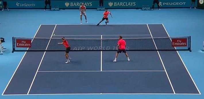 incredible doubles point ATP finals kontinen peers vs lopez lopez_0209