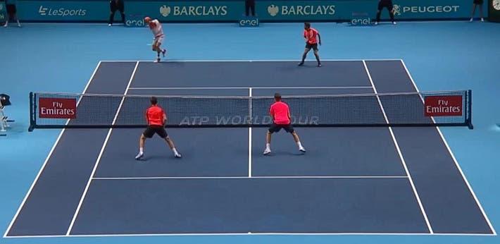 incredible doubles point ATP finals kontinen peers vs lopez lopez_0235