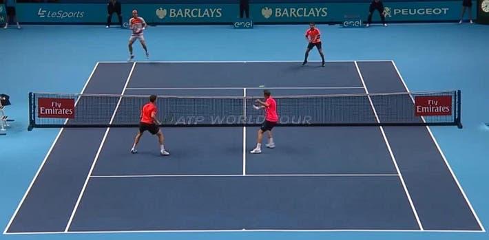 incredible doubles point ATP finals kontinen peers vs lopez lopez_0251