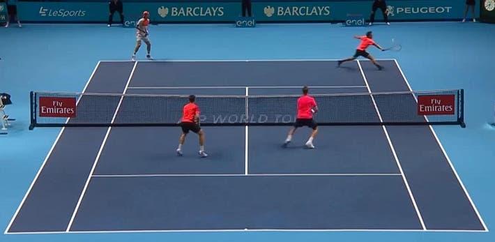 incredible doubles point ATP finals kontinen peers vs lopez lopez_0274