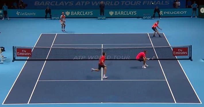 incredible doubles point ATP finals kontinen peers vs lopez lopez_0295