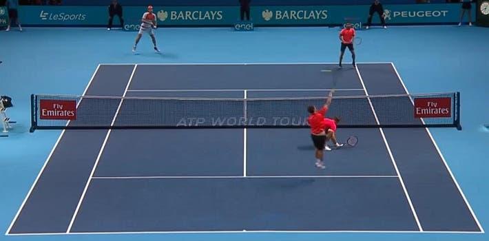 incredible doubles point ATP finals kontinen peers vs lopez lopez_0316