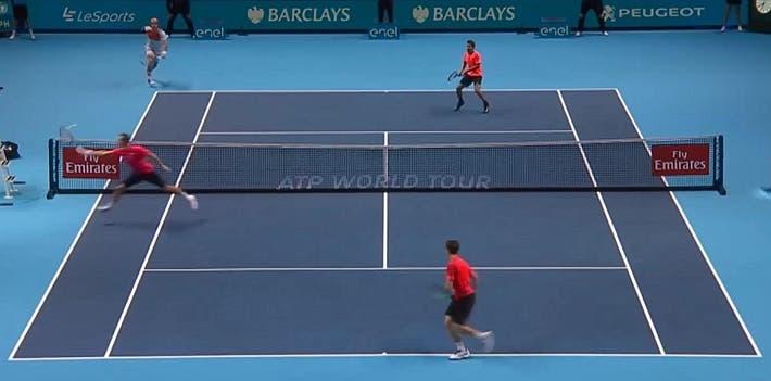 incredible doubles point ATP finals kontinen peers vs lopez lopez_0372