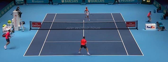 incredible doubles point ATP finals kontinen peers vs lopez lopez_0436