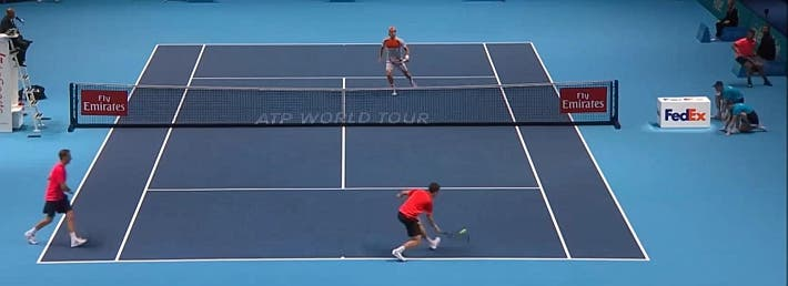 incredible doubles point ATP finals kontinen peers vs lopez lopez_0459