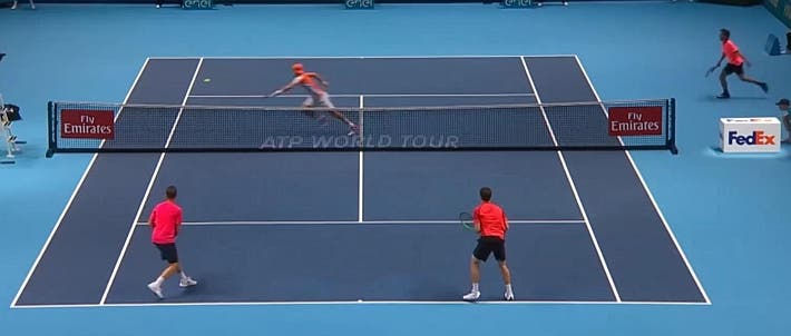 incredible doubles point ATP finals kontinen peers vs lopez lopez_0485