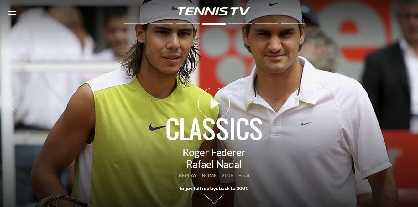 TennisTV: nuova veste grafica e più contenuti storici ATP
