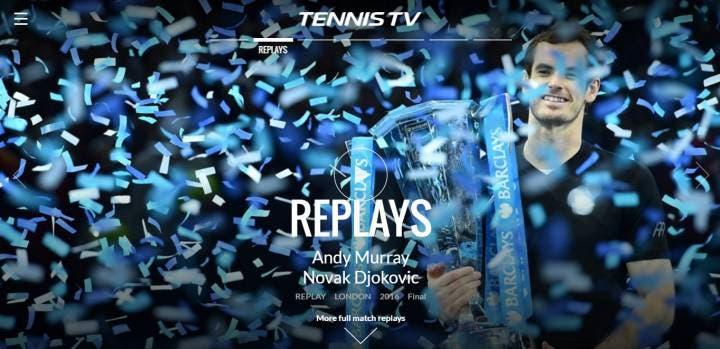 Tennis TV replays